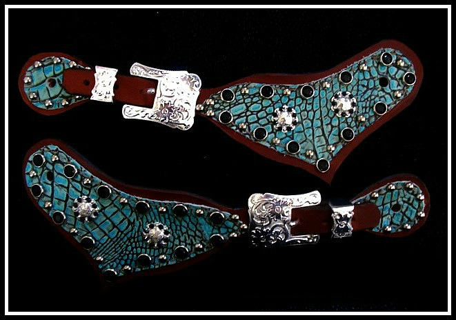Antique Turquoise Spur Straps By Lantern Lane Creations