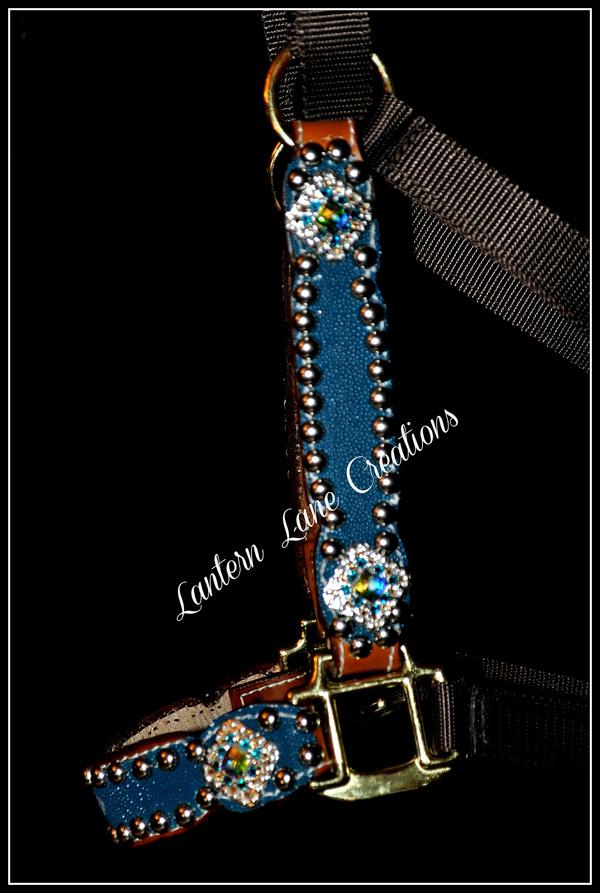 Turquoise Stingray Halter By Lantern Lane Creations