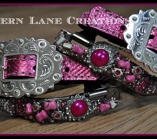 Pink Spurs By Lantern Lane Creations