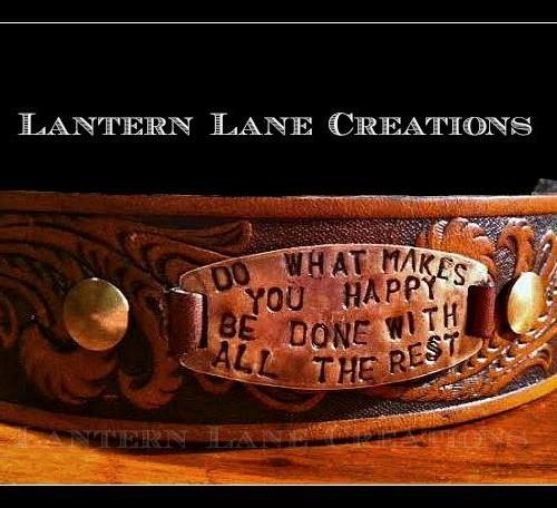 Tooled Cuff Bracelet W Interchangeable Plate By Lantern