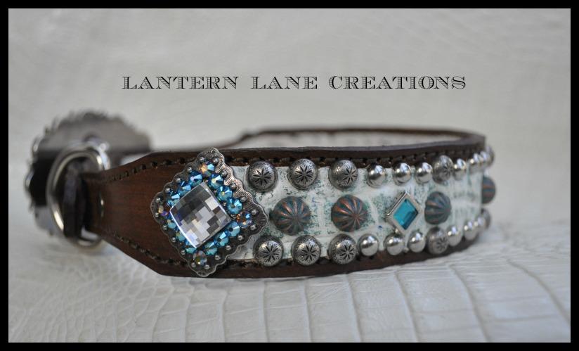 White Croc Dog Collar By Lantern Lane Creations