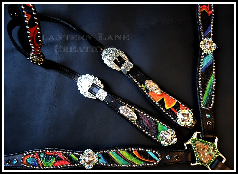 Brightly Colored Stingray Tack Set By Lantern Lane Creations